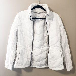Guess white puffer coat